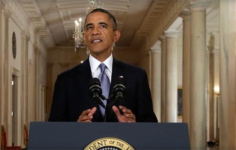 Tổng thống Mỹ Barack Obama phát biểu tại Nhà Trắng ngày 10/9.