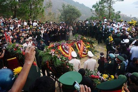 Phần mộ củaĐại tướng sau lễ an táng.