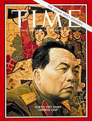 Hình ảnh Đại tướng Giáp trên trang bìa tạp chí TIME của Mỹ