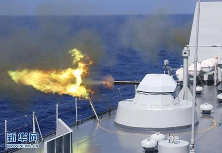 Một cuộc tập trận của hải quân Trung Quốc.