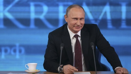 Tổng thống Vladimir Putin tại cuộc họp báo hôm 19/12.