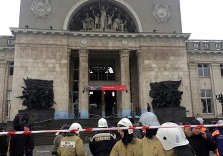 Vụ nổ tại nhà ga trung tâm Volgograd.