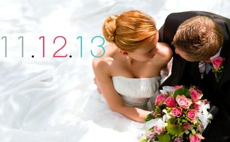 Nhiều cặp đôi trên thế giới đã lựa chọn tổ chức đám cưới vào ngày 11/12/2013.