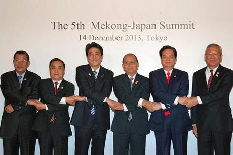 Các nhà Lãnh đạo chụp ảnh chung trước Hội nghị Cấp cao Mekong-Nhật Bản lần thứ 5. Ảnh: VGP/Nhật Bắc