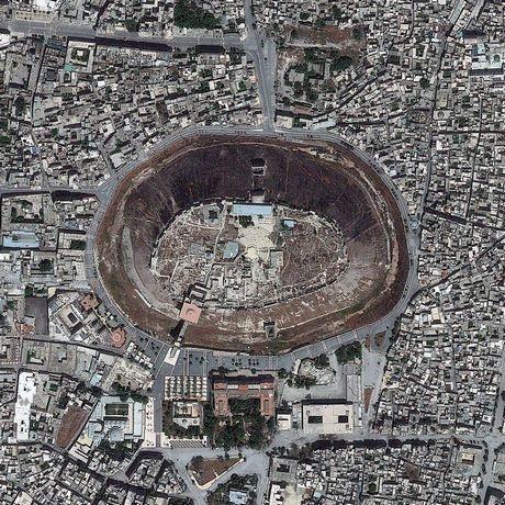 Khu thành lũy cổ tại Aleppo, Syria.