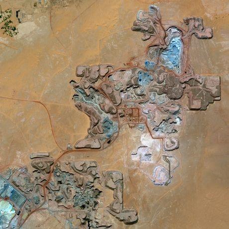 Ảnh vệ tinh chụp mỏ urani Arlittại Niger ngày 13/2.