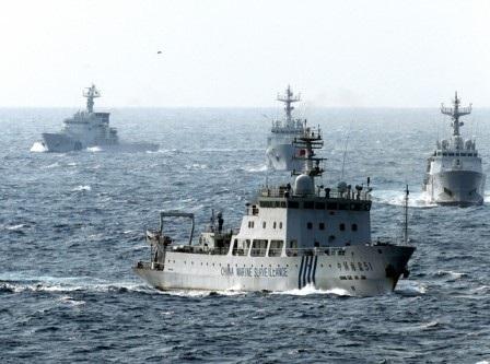 Tàu chiến hải quân Trung Quốc.