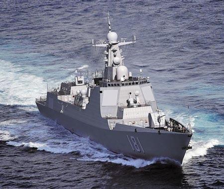 Tàu khu trục 052D của Trung Quốc.