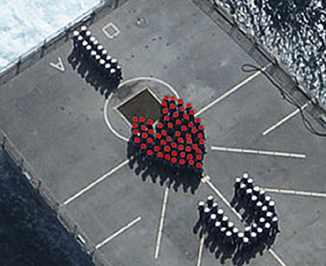 Thông điệplãng mạn trênchiến hạm Anh.