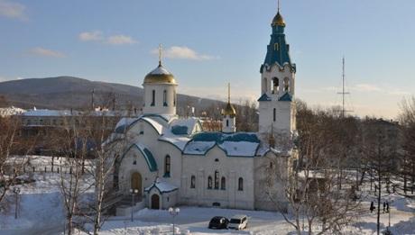 Nhà thờ trên đảo Sakhalin, nơi xảy ra vụ tấn công.