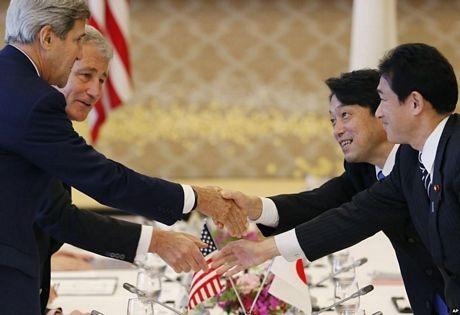 Mỹ đã cam kết bảo vệ Nhật trước các cuộc tấn công, kể cả liên quan đến tranh chấp chủ quyền.