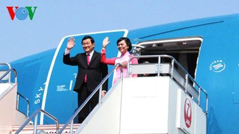 Chủ tịch nước Trương Tấn Sang thăm chính thức Nhật Bản