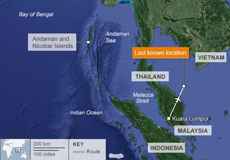 Chiến dịch tìm kiếm máy bay giờ đây đã được mở rộng ra cả Vịnh Bengal và Ấn Độ Dương.