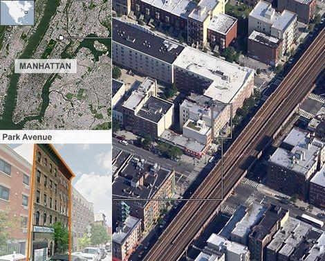 Hai tòa nhà bị sập nằm trên đại lộ Park ở Đông Harlem của khu Manhattan.