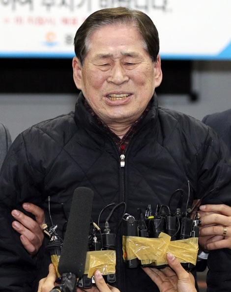Ông Kim Han-shik, giám đốc điều hành công ty hàng hải Chonghaejin, hãng điều hành phà Sewol.