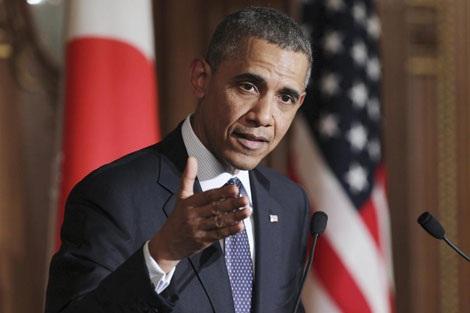 Tổng thống Obama phát biểu trong chuyến thăm Tokyo ngày 24/4.