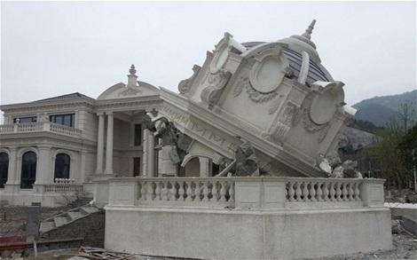 Nhà Trắng tại Thiệu Hưng giờ đây là một đống đổ nát.