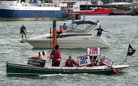 Thuyền của Hoàng tử William và Công nương Catherine trong cuộc đua.