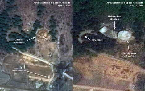 Ảnh vệ tinh chụp Trung tâm phóng vệ tinh Sohae của Triều Tiên.