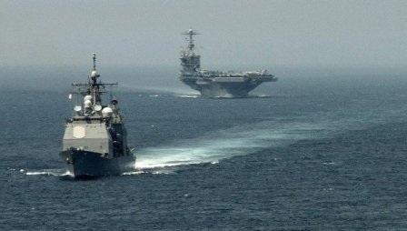 Tàu chiến của Hải quân Mỹ tại Thái Bình Dương.
