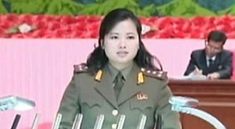 Cô Hyon Song-wol xuất hiện trên truyền hìnhquốc gia Triều Tiên.