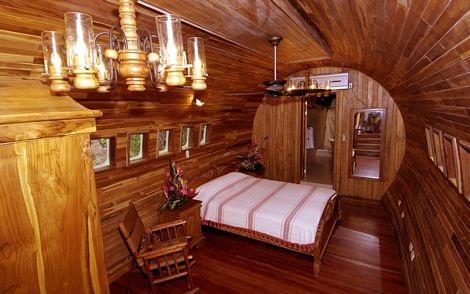 Một phòng ngủ trên khách sạn máy bay.
