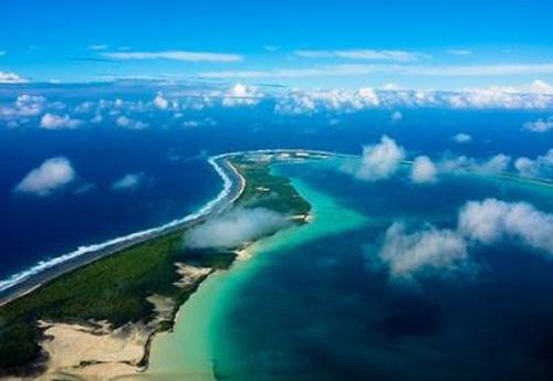 Đảo Diego Garcia - hòn đảo lớn nhất trong quần đảo Chagos.