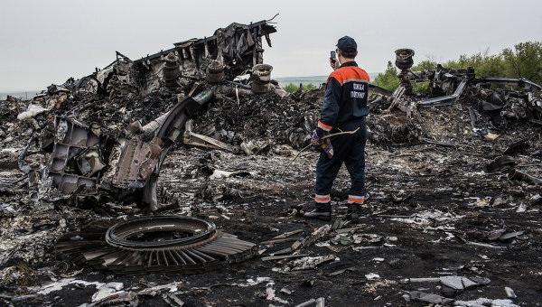 Hiện trường vụ tai nạn máy bay MH17 ở đông Ukraine.