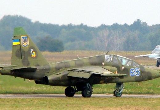 Một máy bay chiến đấu Su-25 của Ukraine.