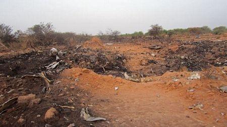 Các mảnh vỡ của máy bay nằm rải rác trên một khu vực khá rộng.