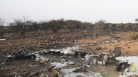 Chiếc máy bay đã bị vỡ tan thành nhiều mảnh.