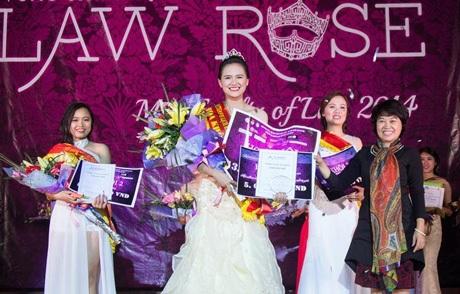 Ngôi vị Hoa khôi cuộc thi thuộc về nữ sinh có chiều cao 1m72 Vũ Lâm Ngọc.