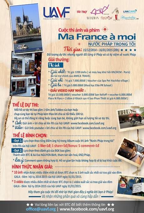 """Khởi động cuộc thi ảnh """"Nước Pháp trong tôi"""""""