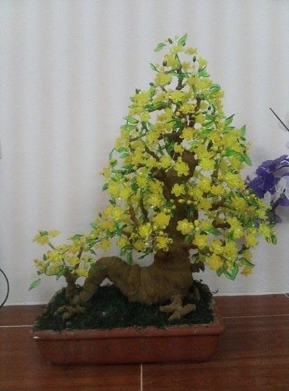 Cây hoa pha lê này được Giang rao bán với giá 1,5 triệu