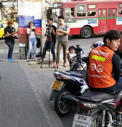 Chàng xe ôm Dechapat nổi tiếng sau khi xuất hiện trên truyền hình.
