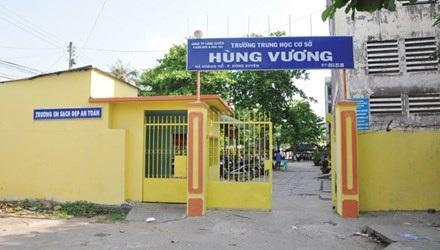 Trường THCS Hùng Vương - nơi xảy ra nhiều vụ học sinh đánh nhau.