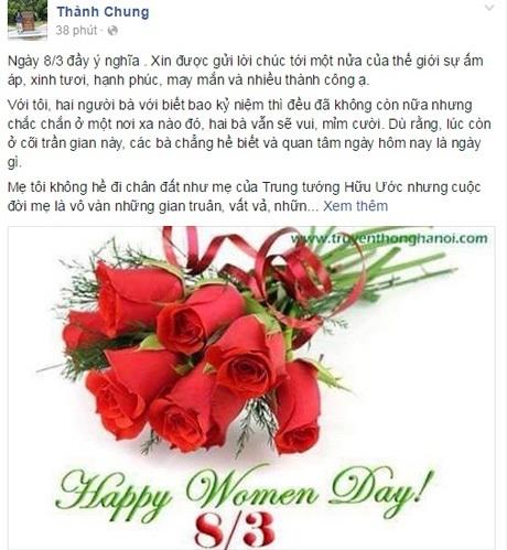 Trên facebook ngập tràn những tấm thiệp và lời chúc dành tặng cho những người phụ nữ.