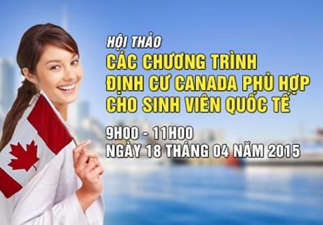 Hội thảo 01: Các chương trình định cư Canada phù hợp cho sinh viên quốc tế