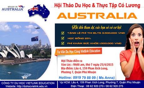 Chương trình học kết hợp thực tập hưởng lương tại Úc