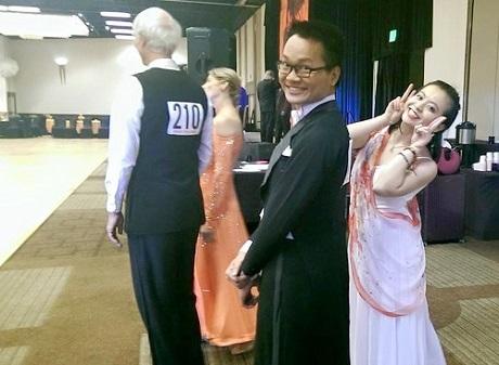 Quang Thông tham gia cuộc thi khiêu vũ bang Texas (Mỹ) và nhận giải nhất với 2 điệu Waltz, Tango.