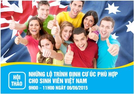 Hội thảo 01: Những lộ trình định cư Úc phù hợp cho sinh viên Việt Nam