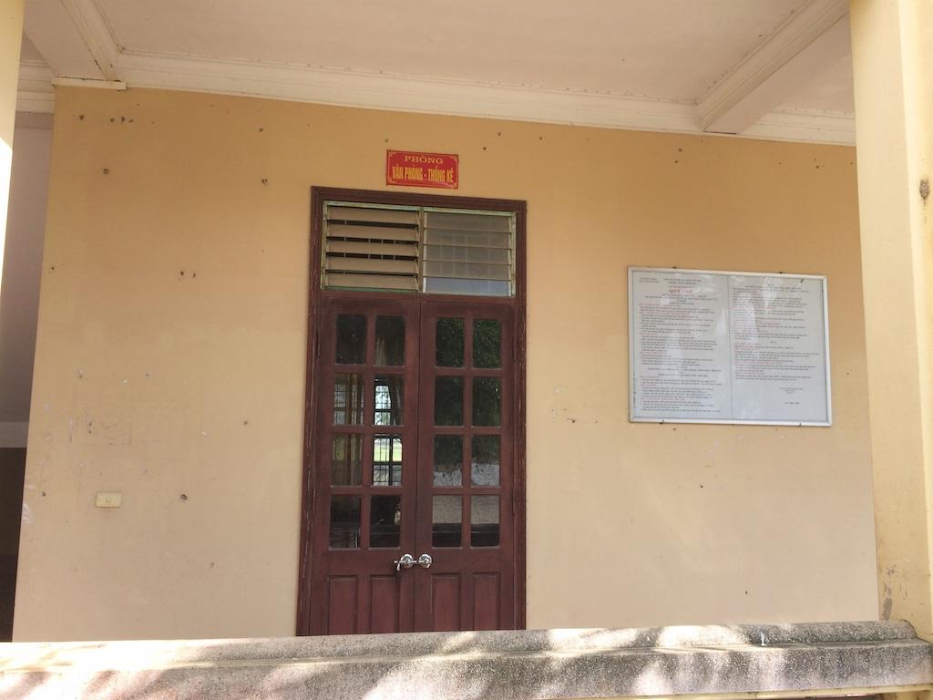 Phòng văn phòng - thống kê đóng cưa dù chỉ mới hơn 10h trưa. (Ảnh chụp hơn 10h trưa 22/12).