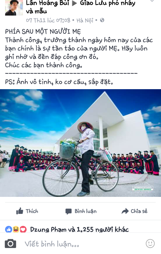 Bức ảnh được đăng tải nhận được nhiều lượt like và bình luận của cộng đồng mạng