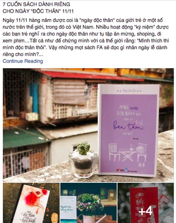 Trên mạng xã hội còn xuất hiện người người tử tế giới thiệu cho người độc thân 7 cuốn sách chỉ dành riêng cho ngày 11/11.
