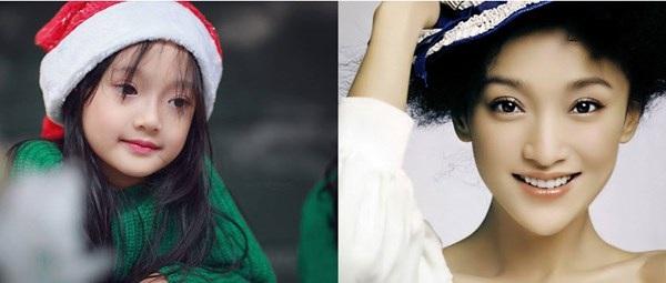 Cuối năm 2015, những bức ảnh của cô bé Trương Bảo Anh được cộng đồng mạng quan tâm bởi em không chỉ xinh xắn mà còn có nhiều nét giống với một nữ diễn viên nổi tiếng của Trung Quốc.