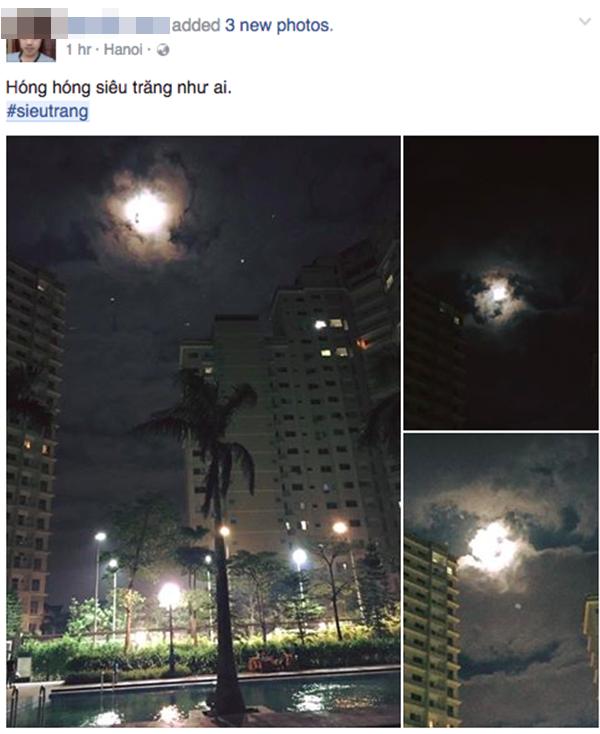 Rất nhiều người Việt ngắm trăng vào tối qua