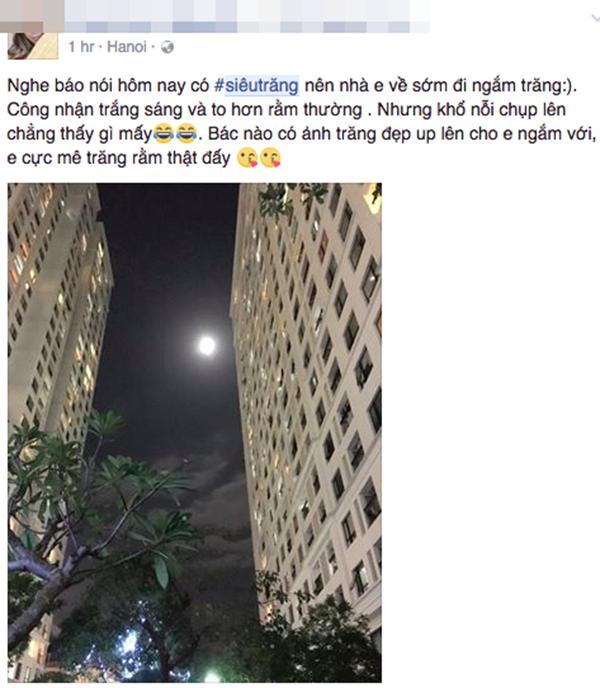 """Dân mạng """"tiu nghỉu"""" vì siêu trăng giống... trăng rằm - 10"""