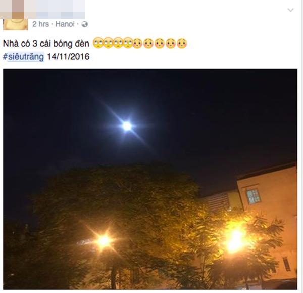 """Dân mạng """"tiu nghỉu"""" vì siêu trăng giống... trăng rằm - 11"""