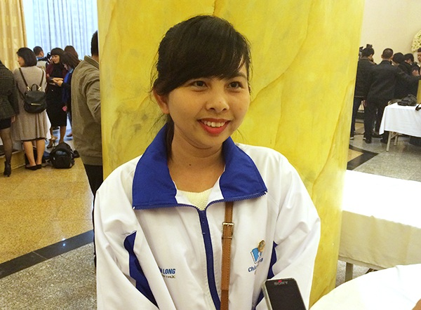 Cô giáo Quảng Thị Kim Ngân của trường Mầm non Thạnh An (Cần Giờ, TPHCM)