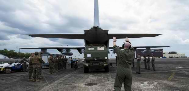 Máy bay vận tải US C-17 của Không quân Mỹ (Ảnh: Philnewsportal)